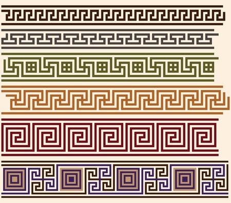 arte greca: Meandri greci Vettoriali