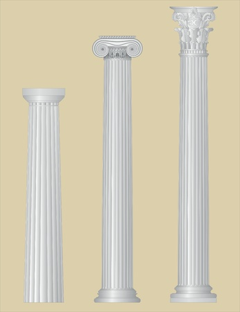 Greek columns with details Stock Vector - 9718086