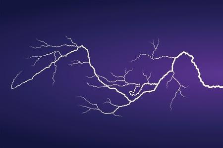 Horizontal vector lightning