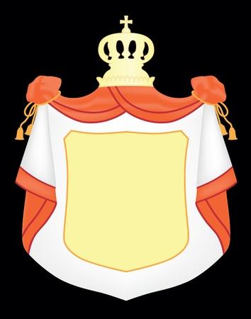 Empty coat of arms Vector