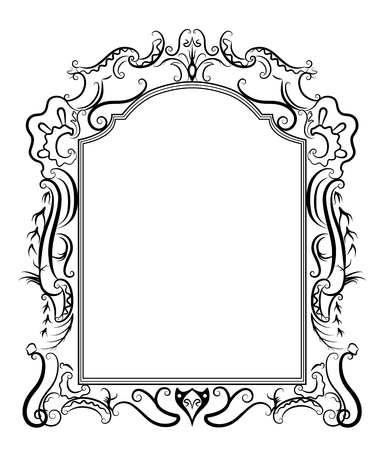 carve: Estilizado marco barroco Vectores