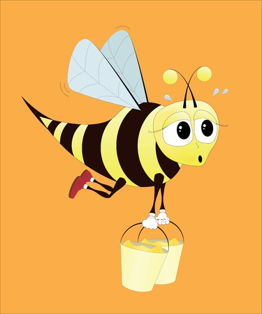 Hard working bee Stock Vector - 9718087