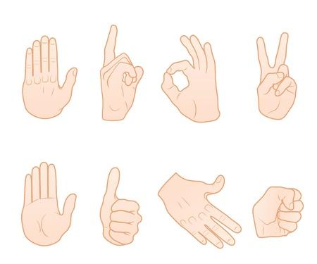 Hand gestures  Stock Vector - 9811335