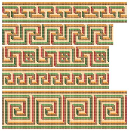 Greek-Roman seamless mosaics Stock Vector - 9811336