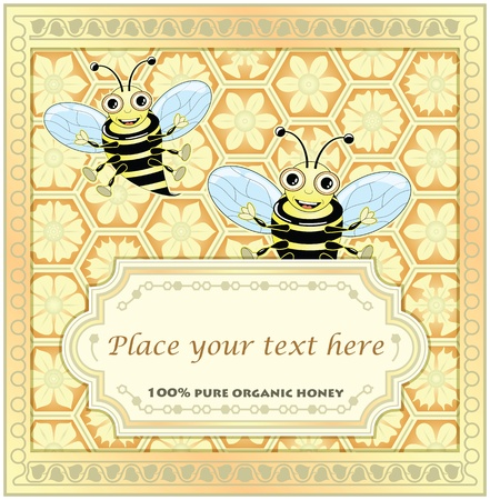 Label for homemade honey Vector