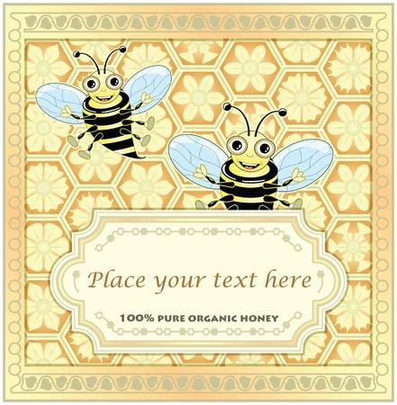 Label for homemade honey Stock Vector - 9931673