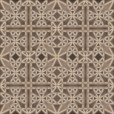 monasteri: Soffitto gotico (seamless pattern) Vettoriali