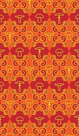 Mushroom pattern Stock Vector - 10264455