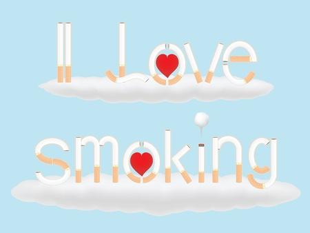 carcinogen: Me encanta fumar  Vectores