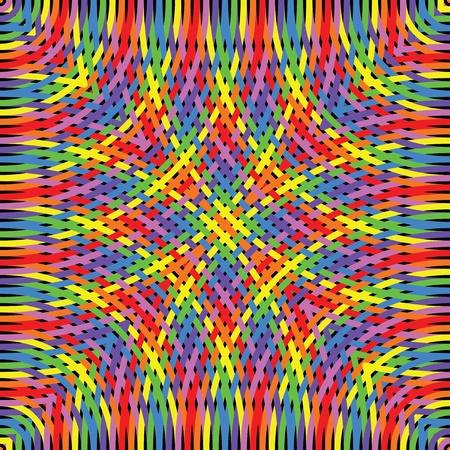 Knitted rainbow  Stock Illustratie