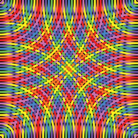 Knitted rainbow  Illustration
