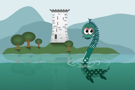 loch ness: Loch Ness Illustration