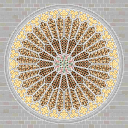 rose window: Rosone Vettoriali