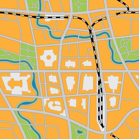 Imaginary city map (seamless vector image) Stock Vector - 11328588