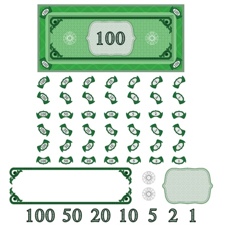 pack of dollars: Play money (make your money set)