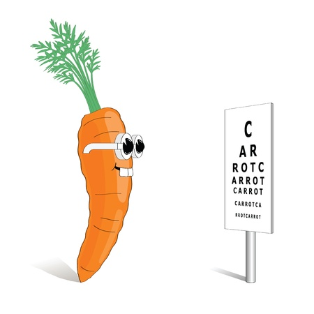 eye exam: Carrot for good vision