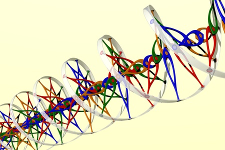 dna test: DNA double helix