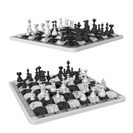 upraised: Chess and oval shaped chess fields, two views