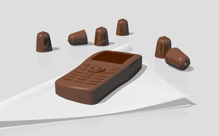 Delicious chocolate snack Stock Photo