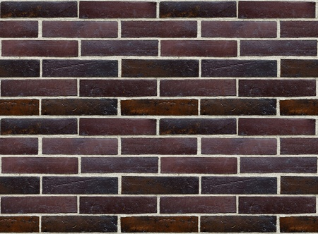 Wall of glazed bricks - precise seamless background  Stock Photo - 12782947