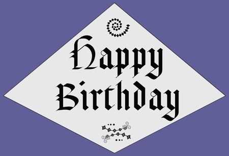 Happy Birthday - middle age design Vector