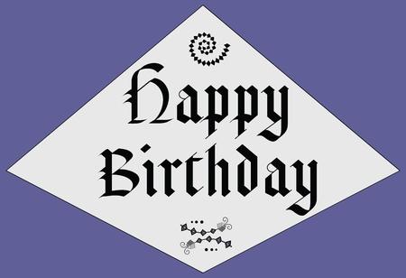 post scripts: Happy Birthday - middle age design