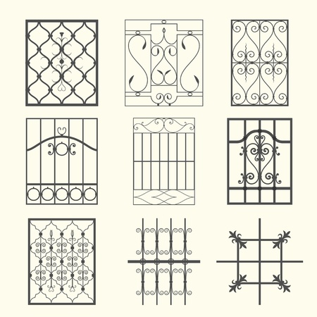 ancient blacksmith: Iron window grills