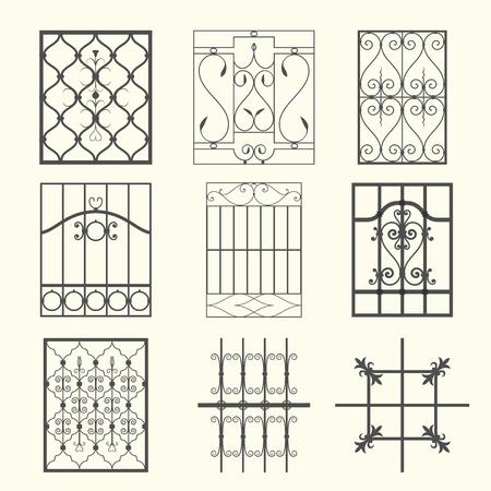Iron window grills Stock Vector - 13127889