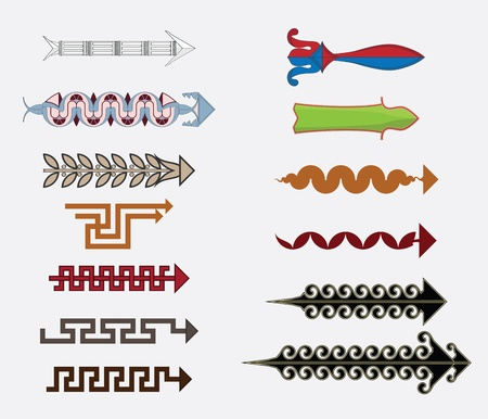 friso: Flechas griegas Vectores