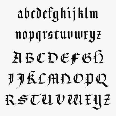Medieval alphabet Illustration