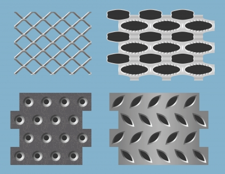Seamless perforated metal patterns