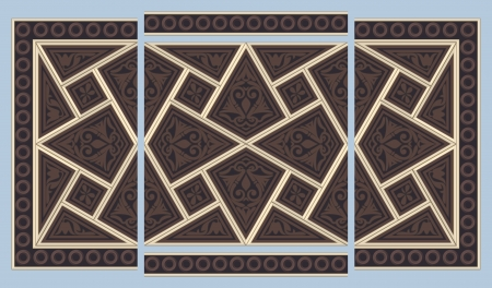 Syrian seamless ornament Vector
