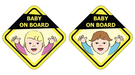 Baby on board - message sign Vector