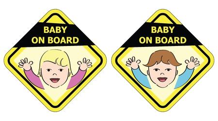 bebe a bordo: Beb� a bordo - Signo mensaje