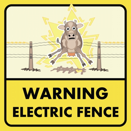 descarga electrica: Signo valla eléctrica
