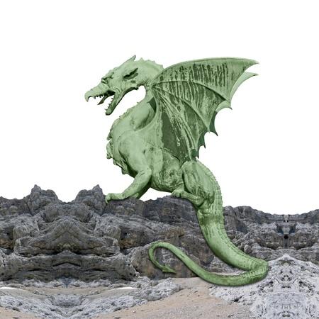 photomontage: Green dragon - photomontage