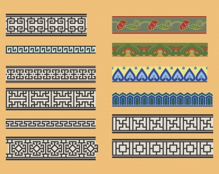 Chinese seamless linear ornaments
