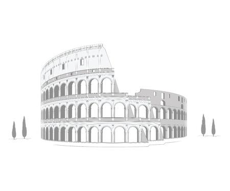 columna corintia: Coliseo - dibujo minucioso