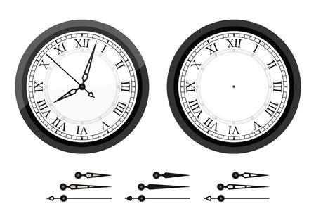 Clock with roman bended numerals Stock Vector - 16959286