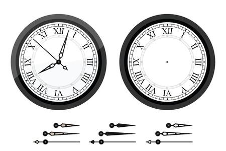 numeros romanos: Reloj con números romanos dobladas