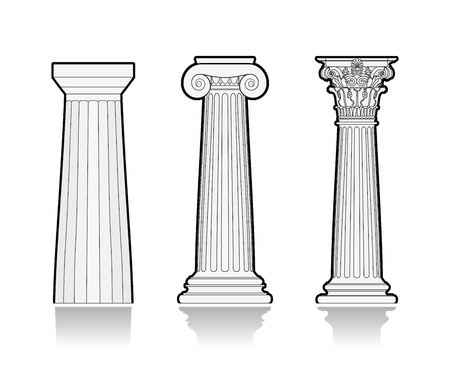 Stylized Greek columns Stock Vector - 17032443