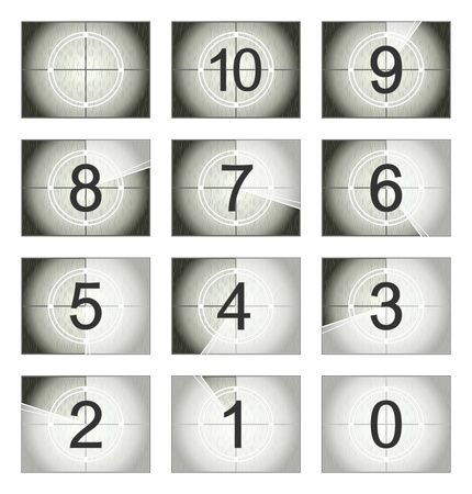 Screen countdown  向量圖像