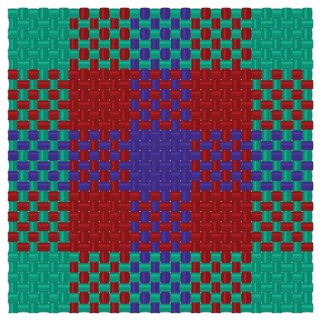 Three colored tartan Illustration