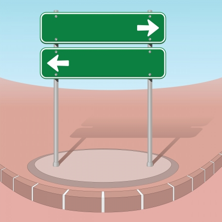 Left or right Stock Illustratie