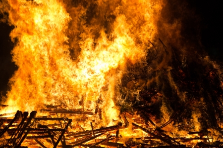 stoking: Intensive fire Stock Photo
