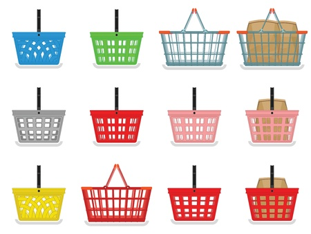 Shopping baskets Vector
