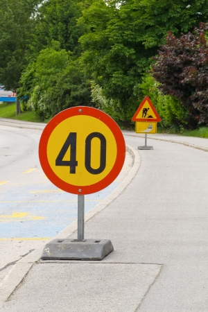 Mobile traffic signs photo