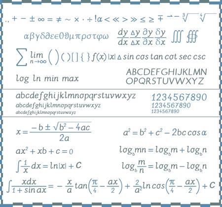 integral: S�mbolos matem�ticos, n�meros y letras - escritura a mano