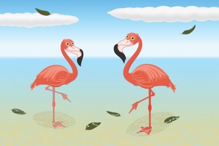 flamingos: Stoic flamingos