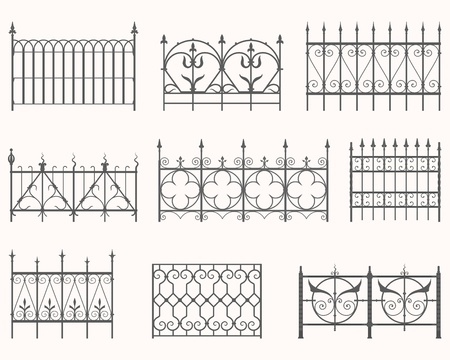 Antique fences - first set Stock Vector - 21515715